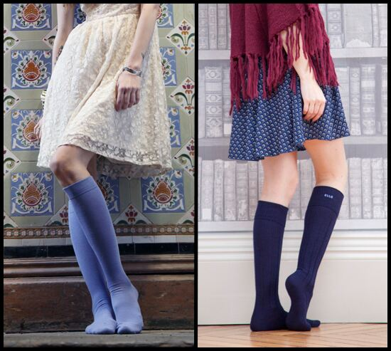 Knee socks and dresses