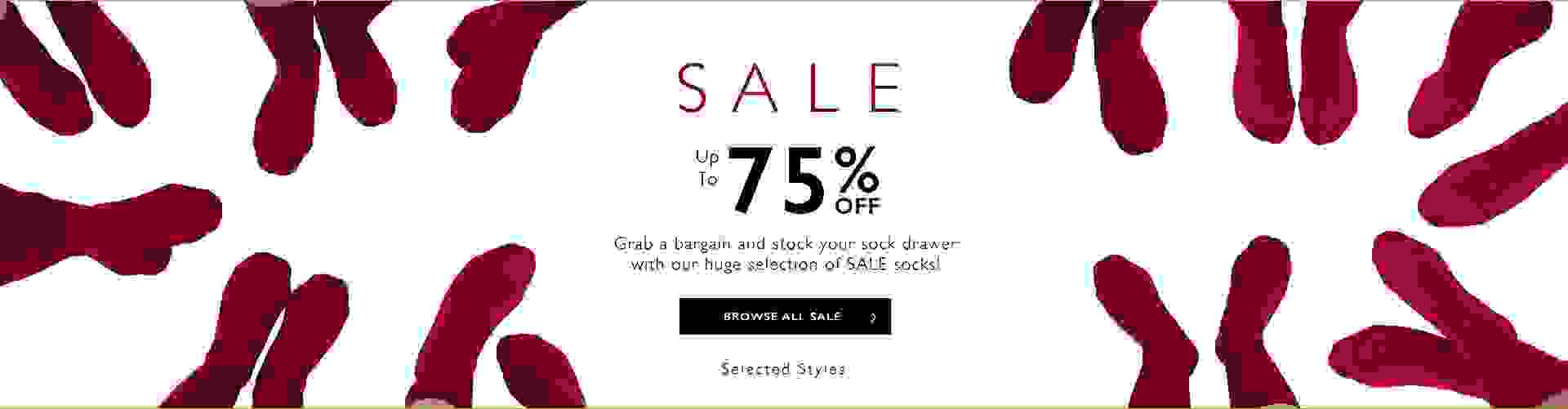 Sale - Up to 75% off selected styles