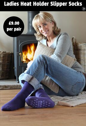 Ladies Heat Holder Slipper Socks >