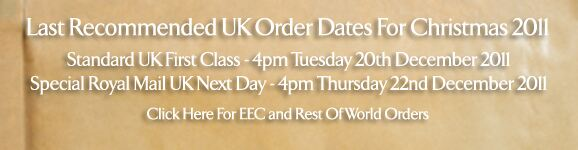 Last Recommended UK Order Dates For Christmas 2011 >