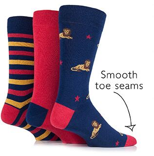 Just For Fun Mens - Lion Socks