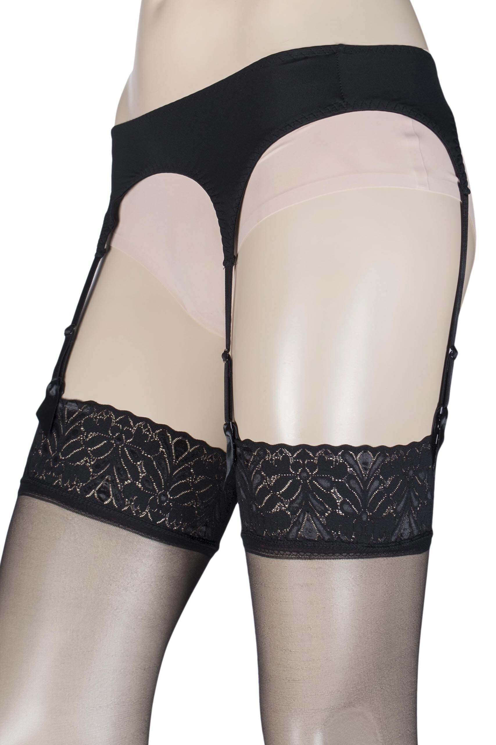 Image of 1 Pack Black Suspender Belt Ladies Medium/Large - Levante
