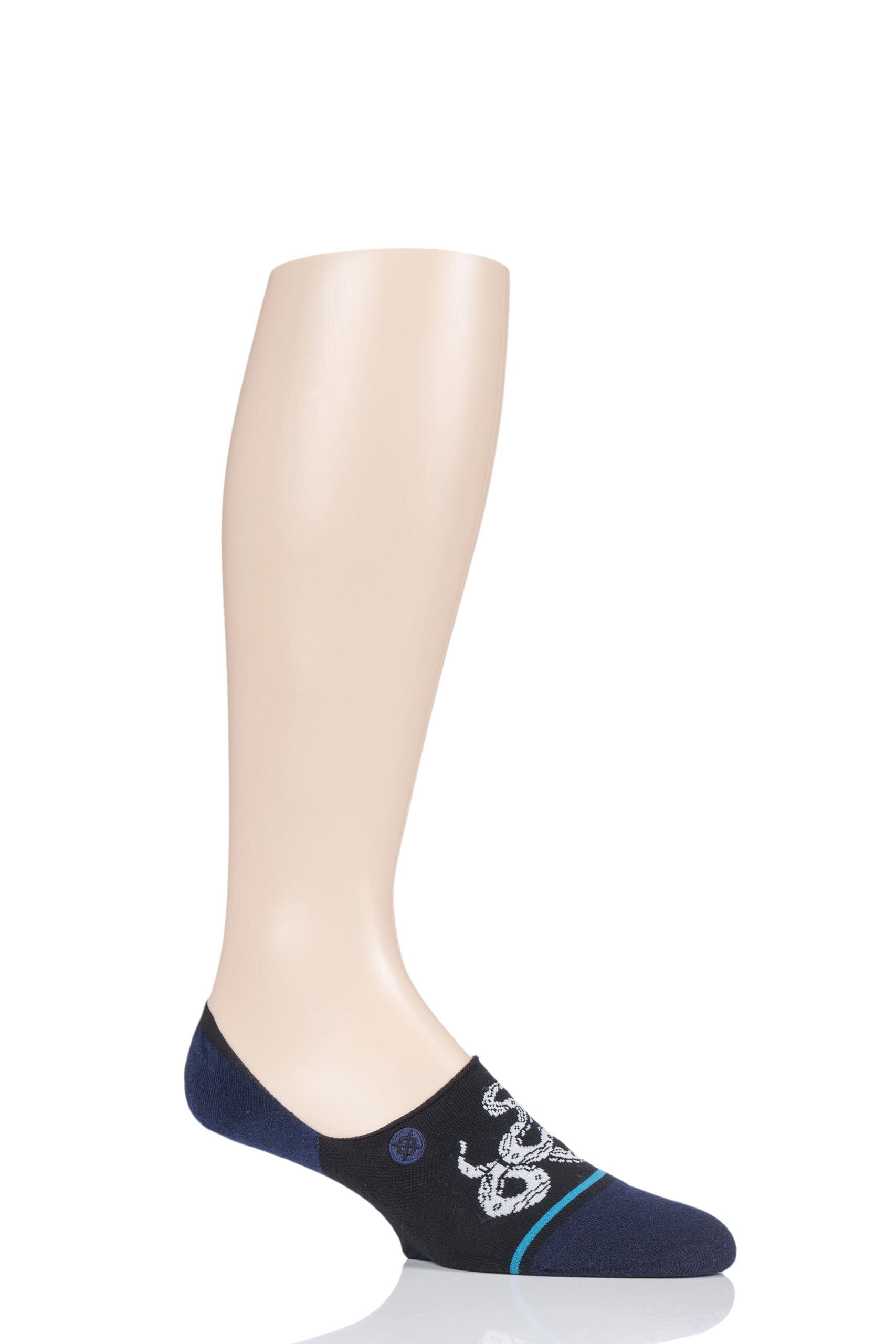 Image of 1 Pair Black Crotalus Cotton Socks Men's 5.5-8 Mens - Stance