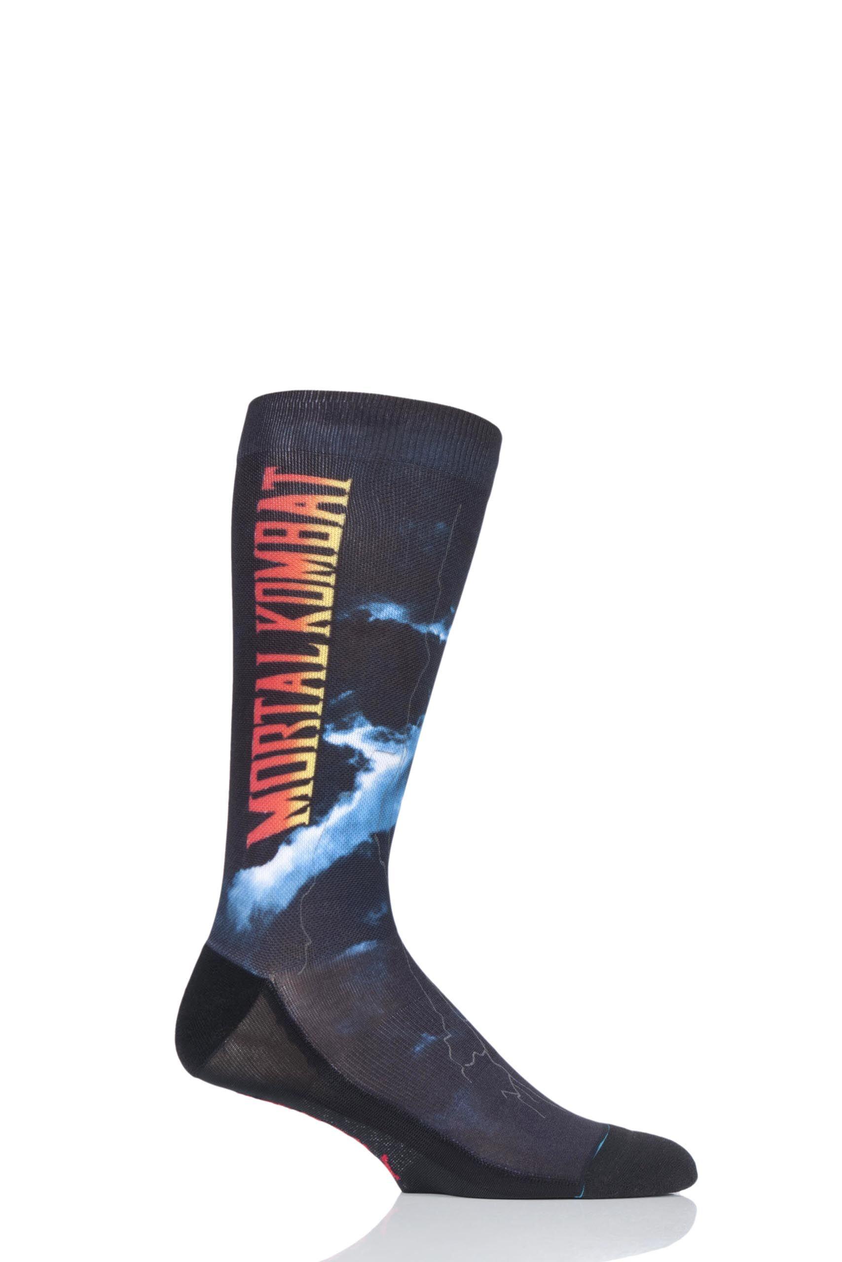 Image of 1 Pair Black Mortal Kombat II Socks Men's 8.5-11.5 Mens - Stance