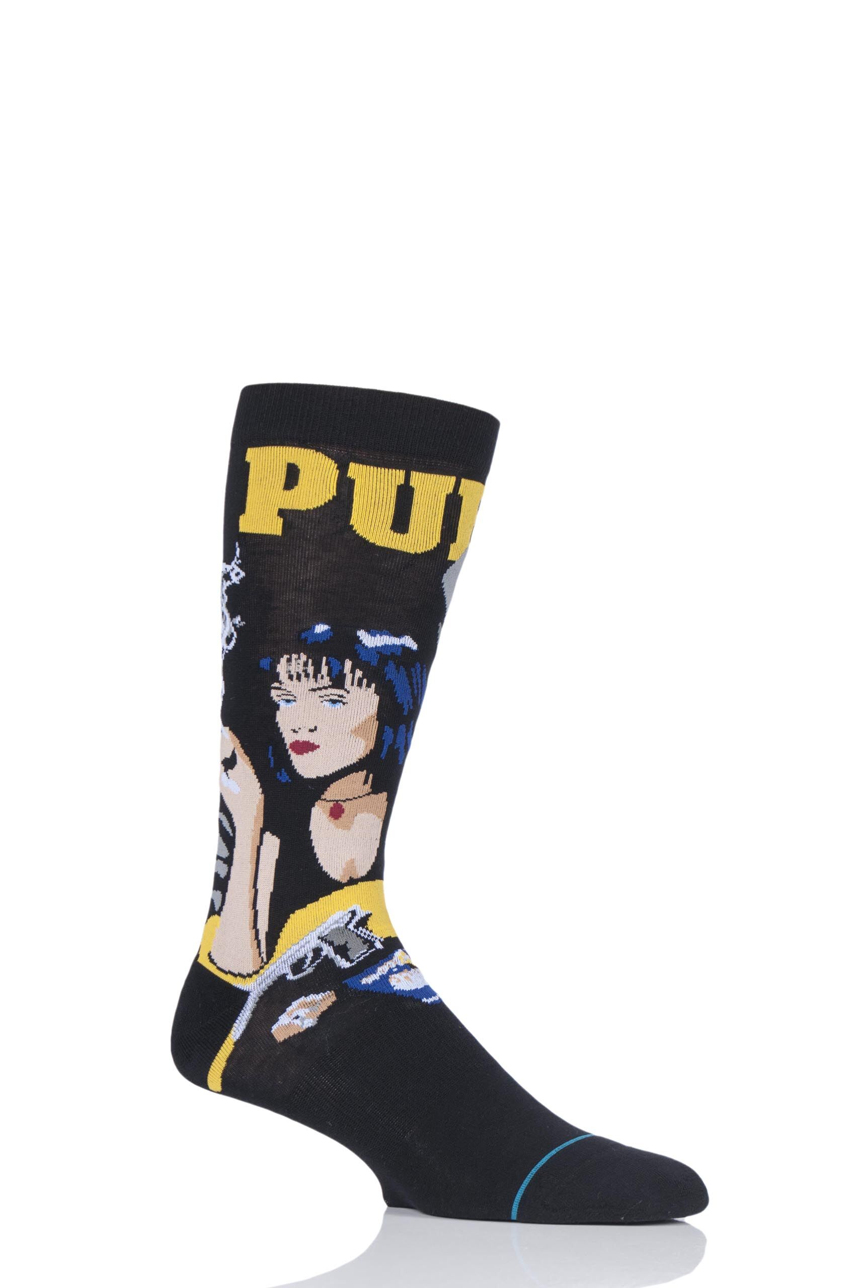 Image of 1 Pair Black Quentin Tarantino Collection Pulp Fiction Socks Men's 5.5-8 Mens - Stance
