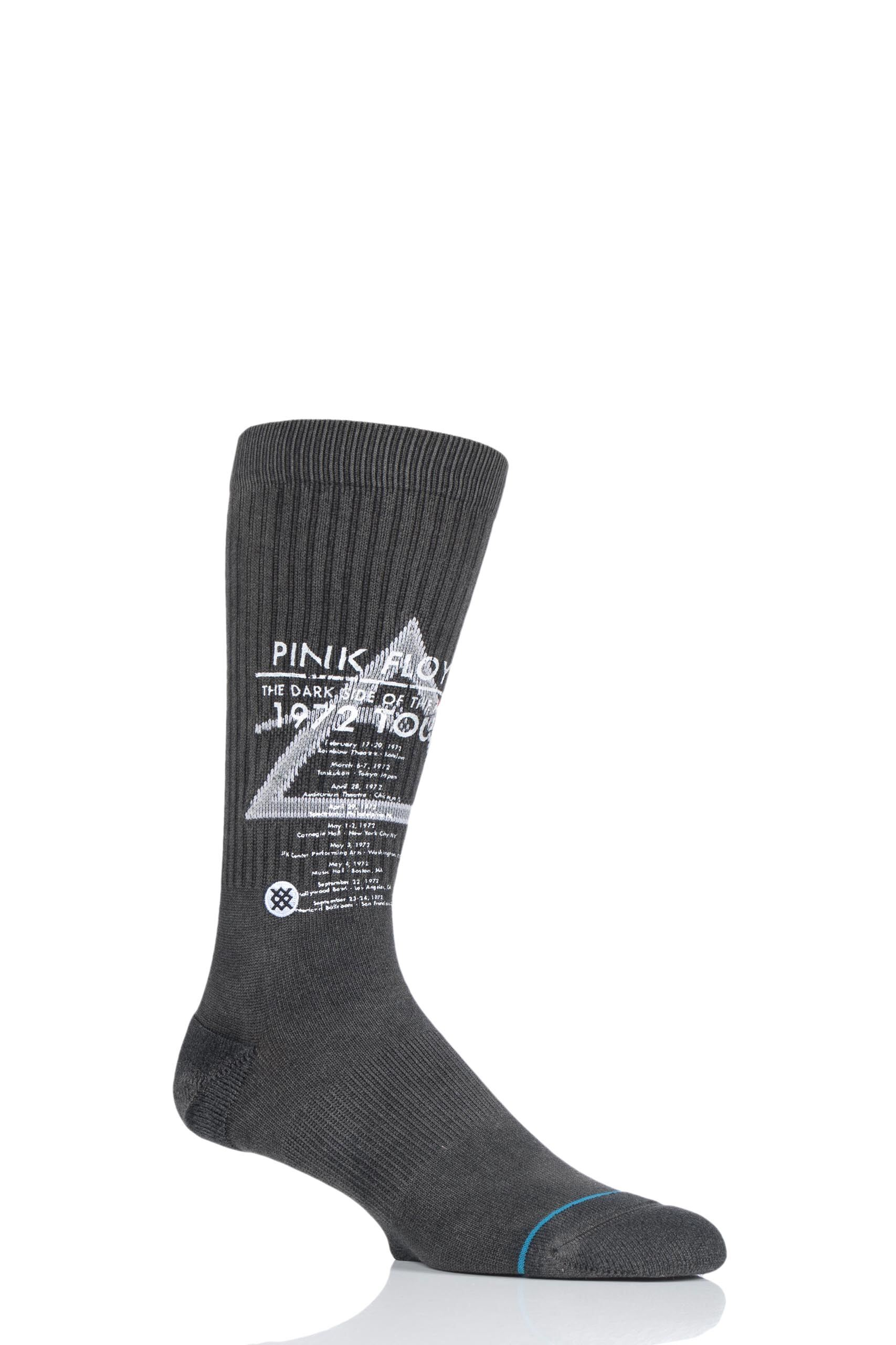 Image of 1 Pair Black Pink Floyd 1972 Tour Cotton Socks Men's 5.5-8 Mens - Stance