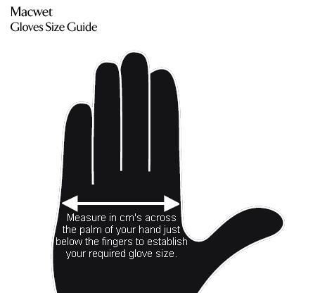 Macwet - Gloves Size Guide