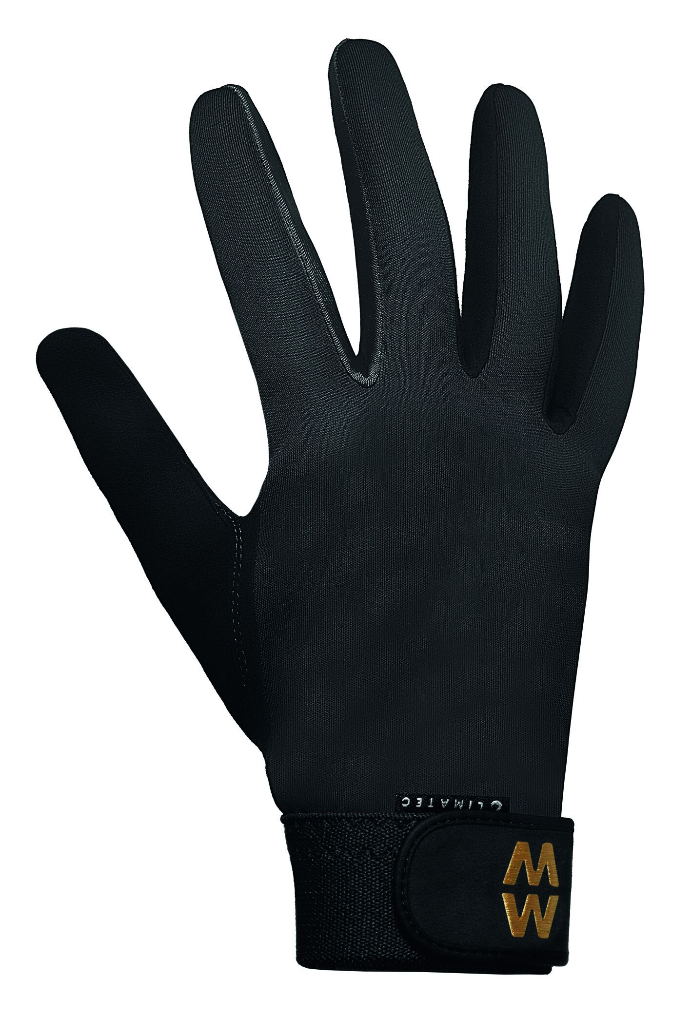 Image of 1 Pair Black MacWet Long Climatec Sports Gloves Unisex 6 Unisex - Macwet