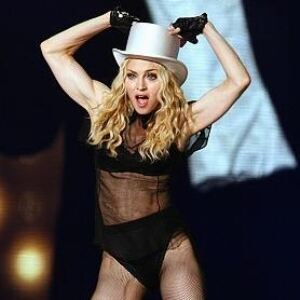 Madonna leaves stockings on for video