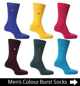 Men's Colour Burst Colourful Socks at SockShop