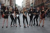 Miss England finalists wear leggings