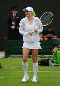 More unusual legwear at Wimbledon