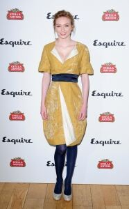 Mustard frock for Eleanor Tomlinson