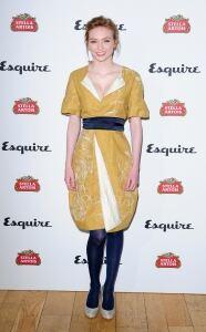 Mustard frock for Eleanor Tomlinson