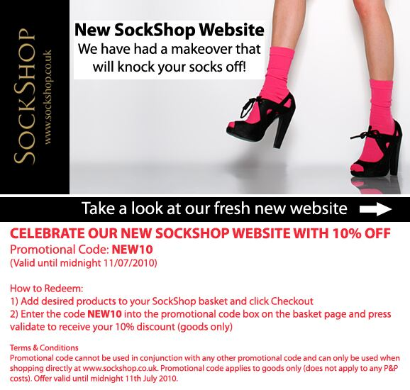 Click Here to View Our New SockShop Website
