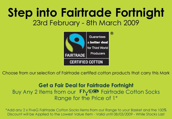 Fairtrade Fortnight at SockShop.co.uk- Five G Fairtrade Cotton Socks