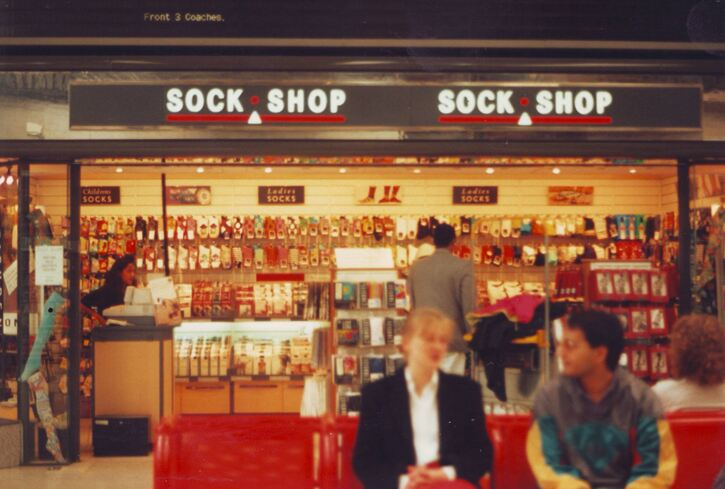 SockShop at Manchester Piccadilly Station