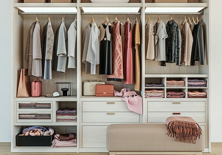 Organise wardrobes and drawers