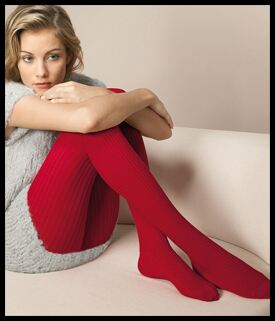 Shop Ladies 1 Pair Oroblu Natural Fibers Megan Ribbed Wool Tights In 2 Colours >