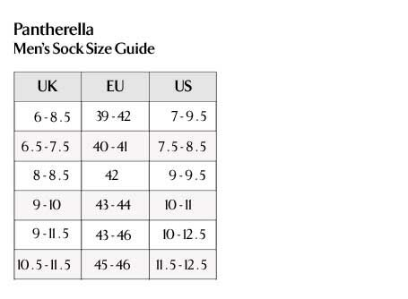 Pantherella - Men's Sock Size Guide