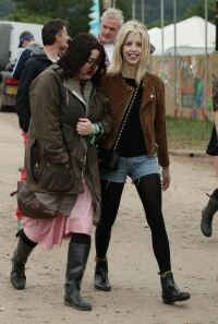 Peaches sports leggings at Glasto