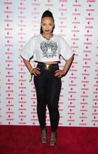 Phreeda wears leggings in London