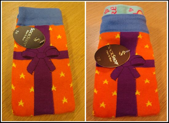 The no gift wrap needed sock within a sock sock wrap