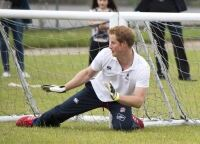 Prince Harry shows off football skills