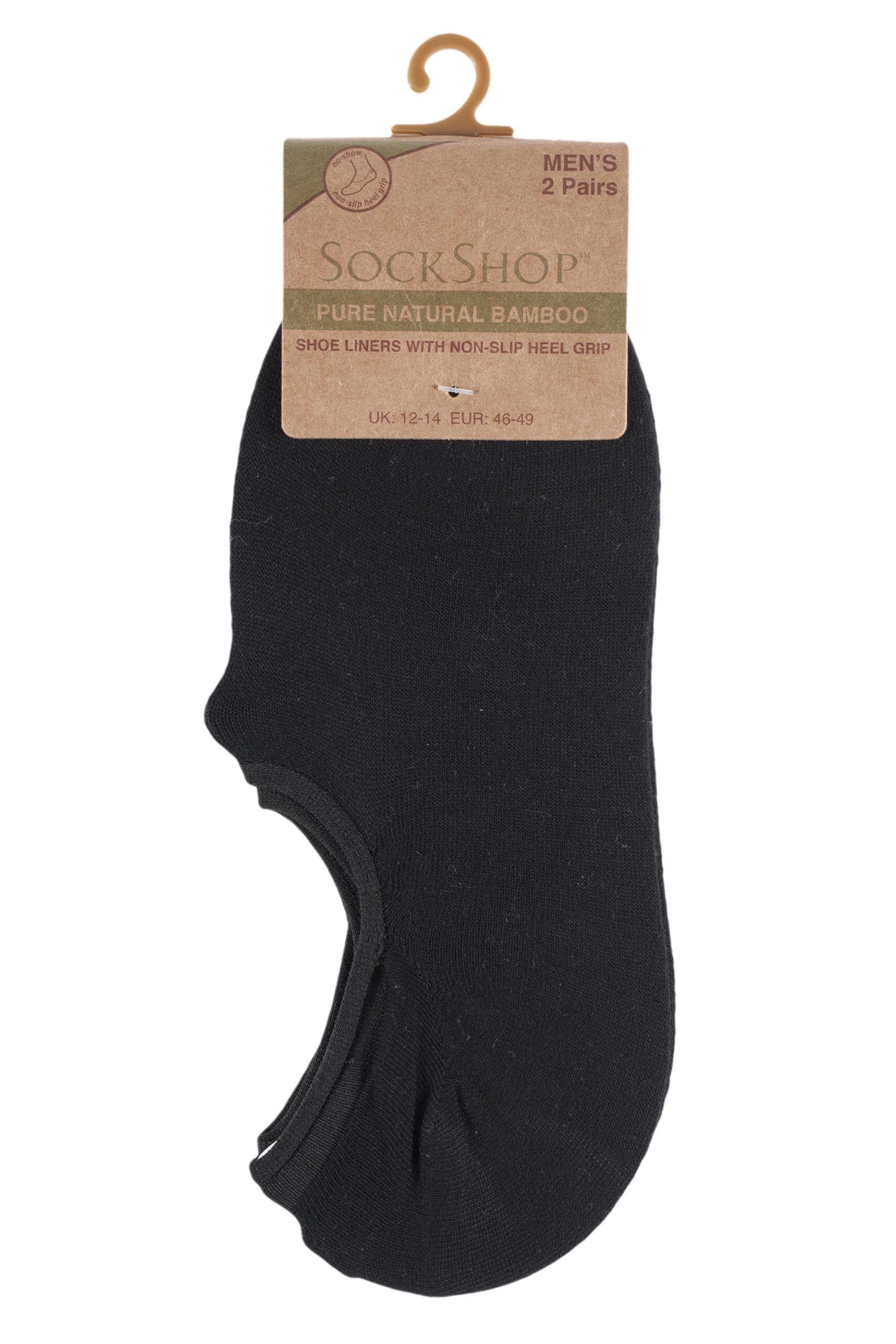 Mens SockShop Plain Bamboo Shoe Liner Socks From SockShop