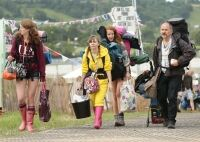 Revellers ready for wet Glastonbury