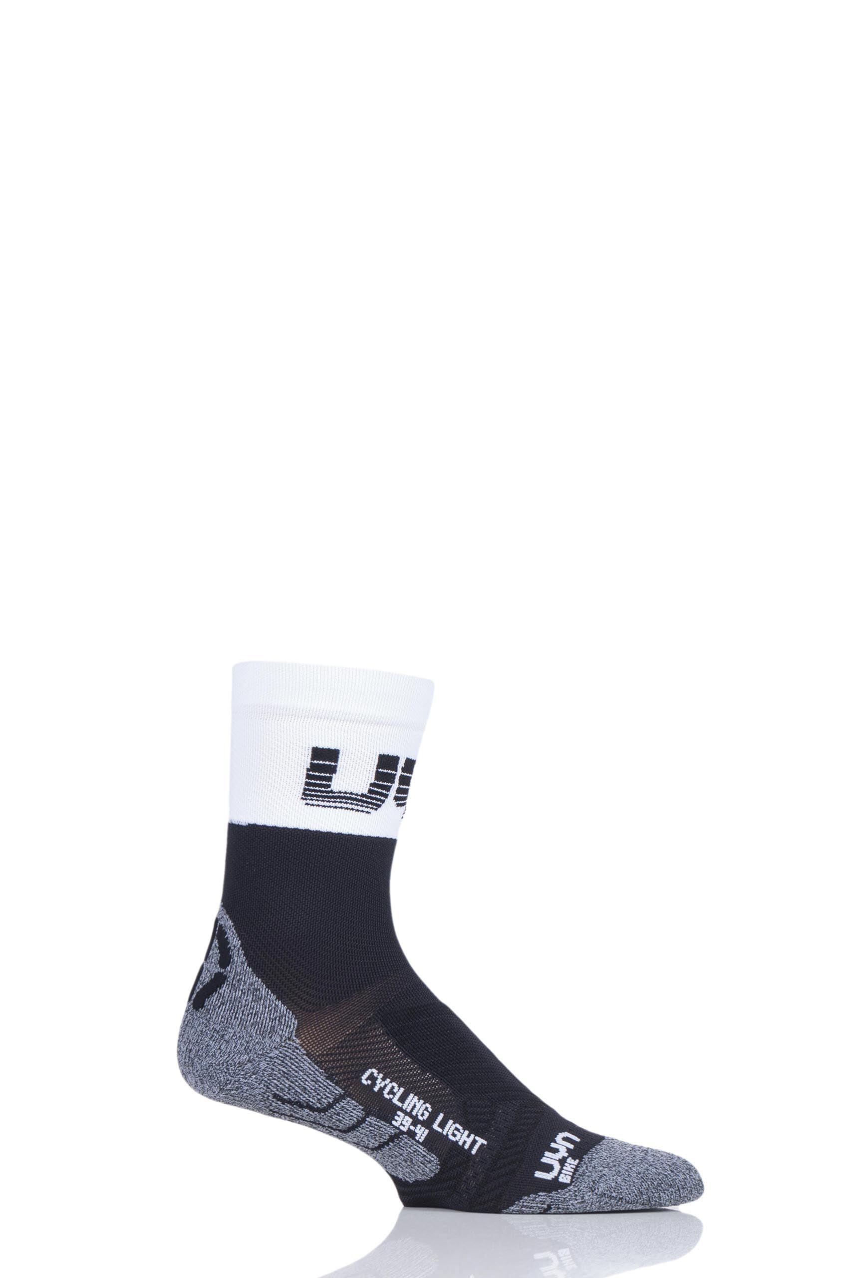 Image of 1 Pair Black Cycling Light Weight Socks Men's 8-9.5 Mens - UYN