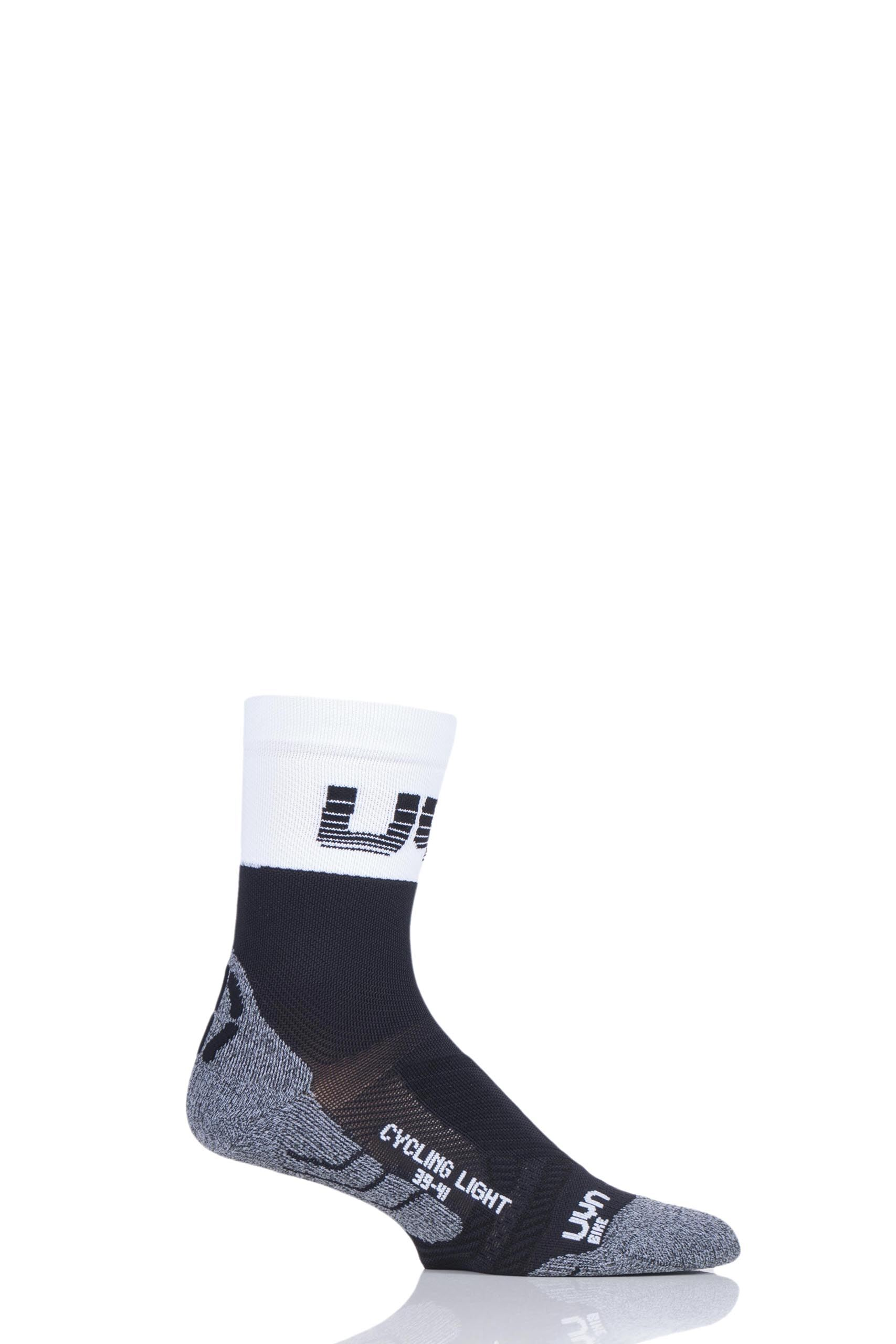 Image of 1 Pair Black Cycling Light Weight Socks Men's 10-12 Mens - UYN