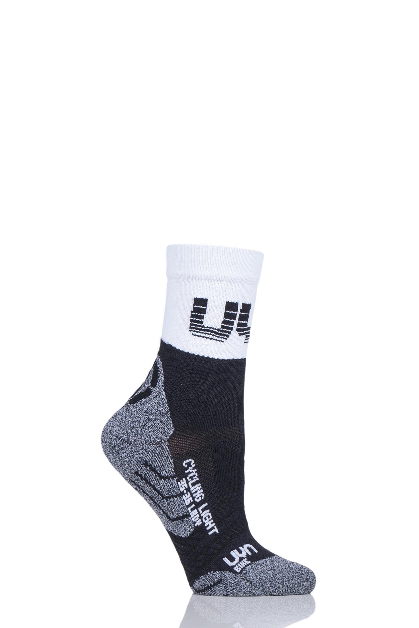 Image of 1 Pair Black Cycling Light Weight Socks Ladies 7-8 Ladies - UYN