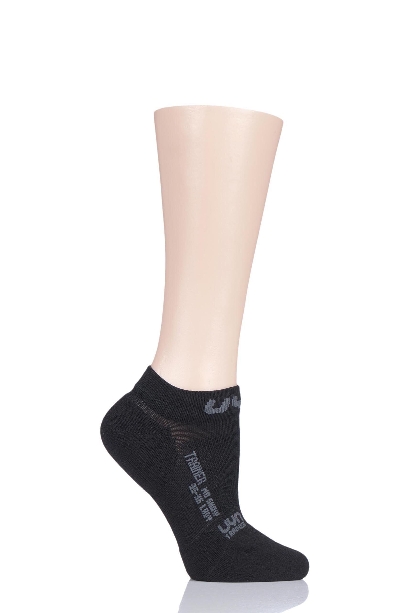 Image of 1 Pair Black No Show Trainer Socks Ladies 4-5 Ladies - UYN