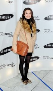 Samantha Barks models autumn style