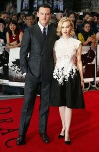 Sarah Gadon rocks pale tights