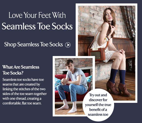 Seamless Toe Socks at SockShop