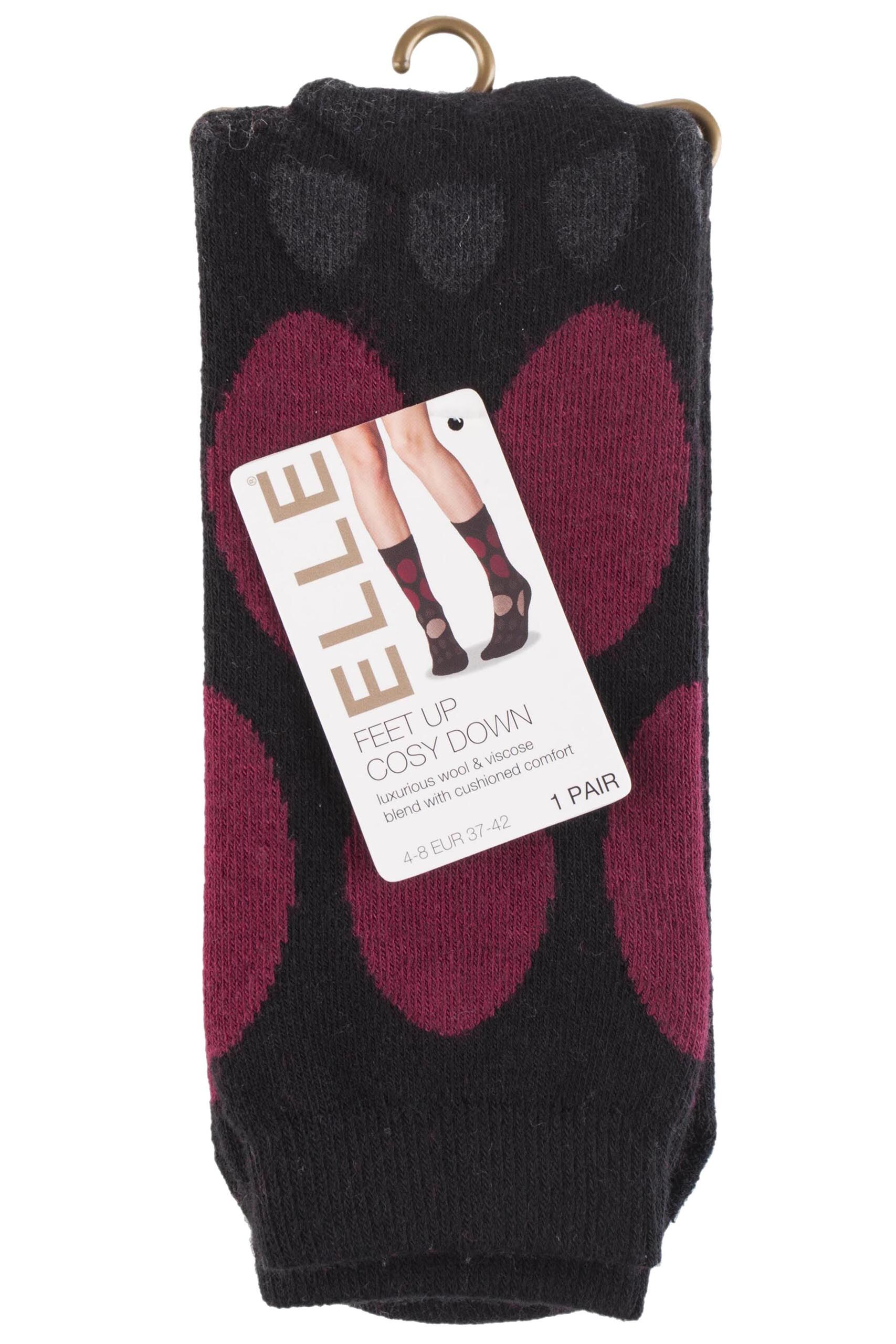 Ladies 1 Pair Elle Soft Wool & Viscose Blend Slipper Socks