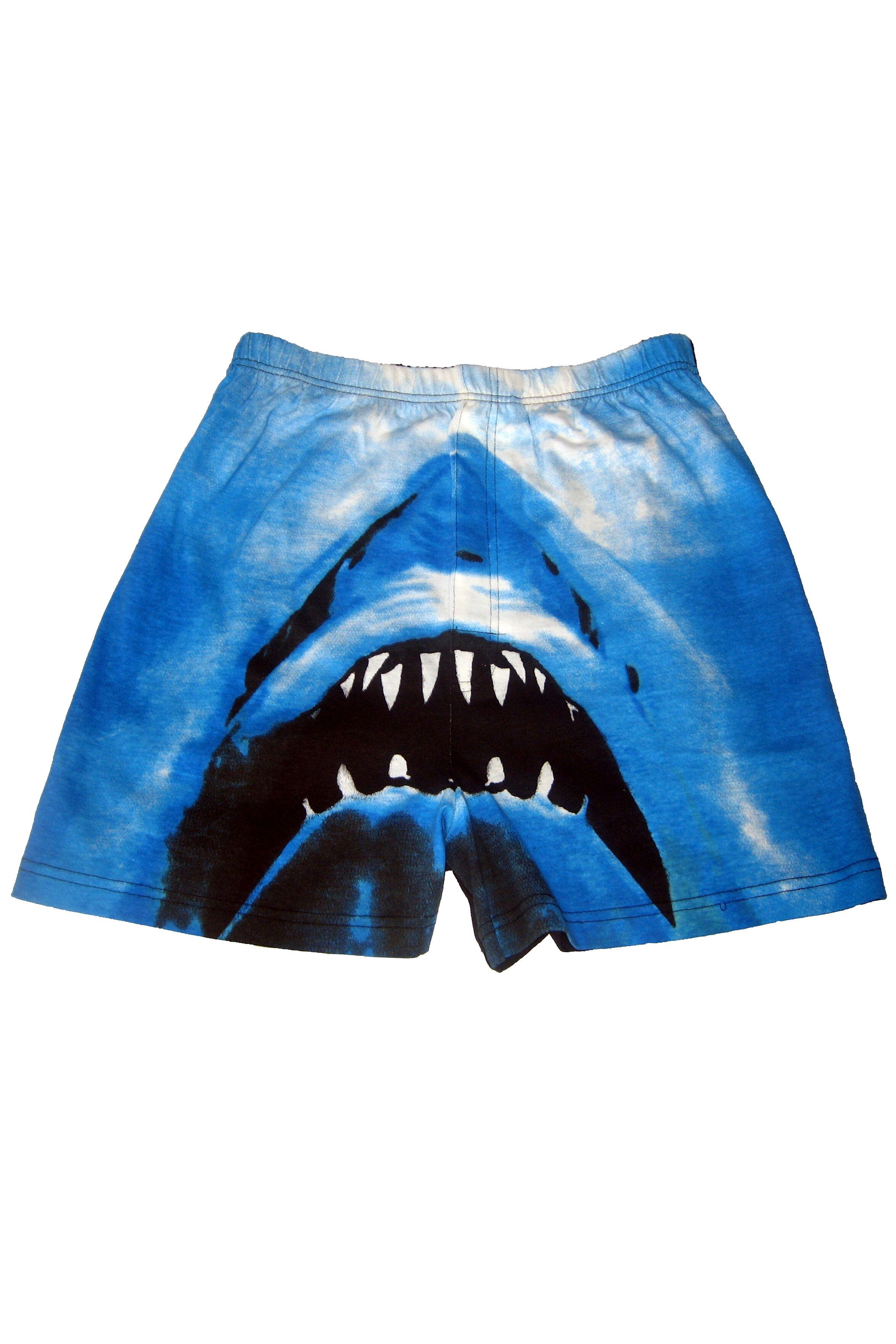 Image of 1 Pack Blue Magic Boxer Shorts In Shark Design Men's Large - SOCKSHOP