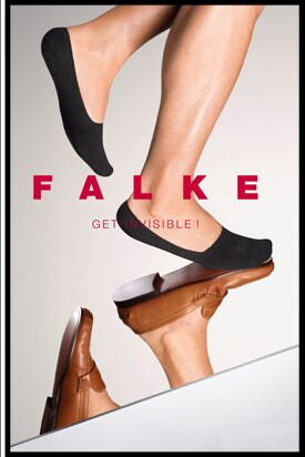 Shop Mens 1 Pair Falke Invisible Step Shoe Liners In 4 Colours >