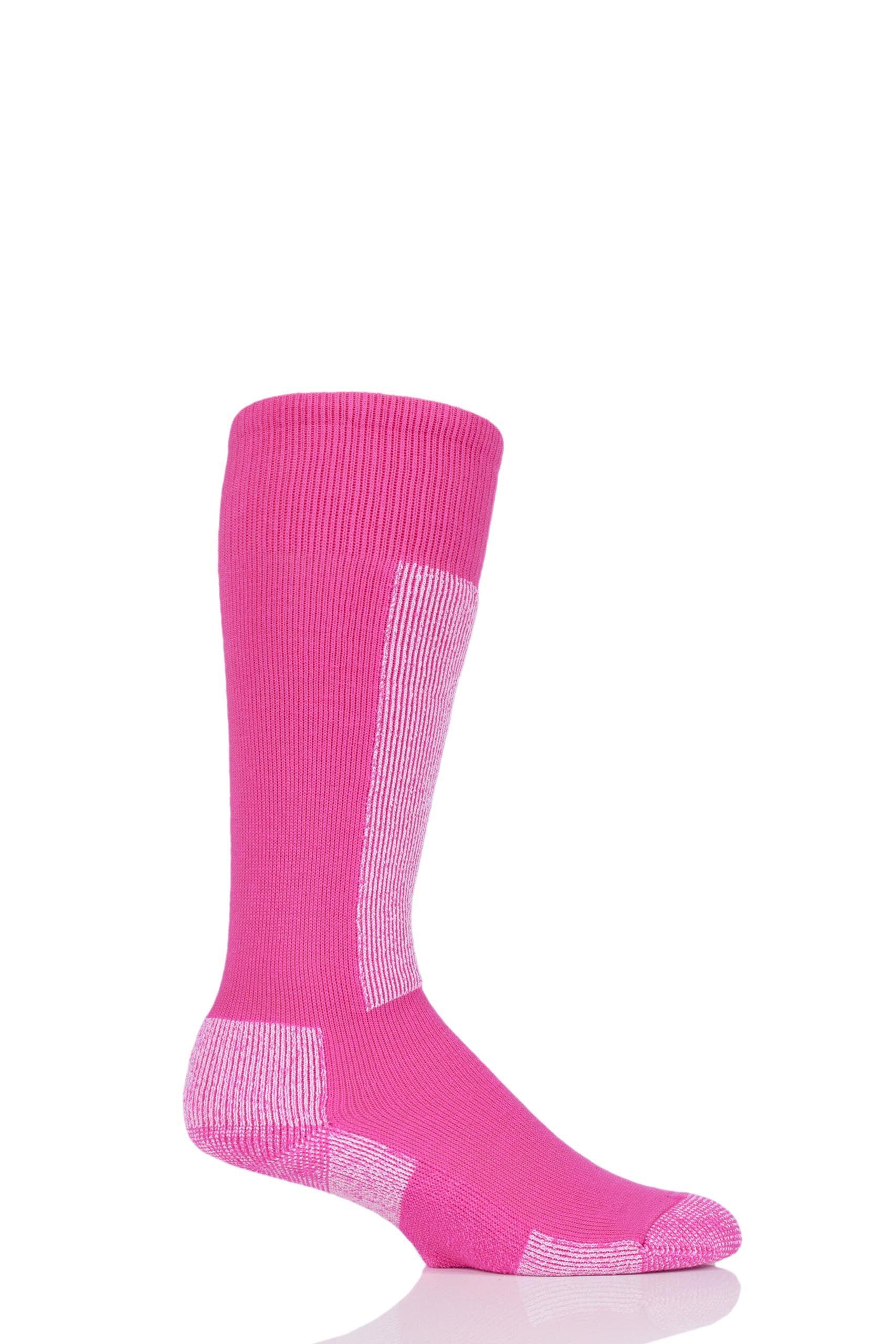 Image of 1 Pack Schuss Pink Lightweight Ski Socks Unisex 8-9.5 Unisex - Thorlos