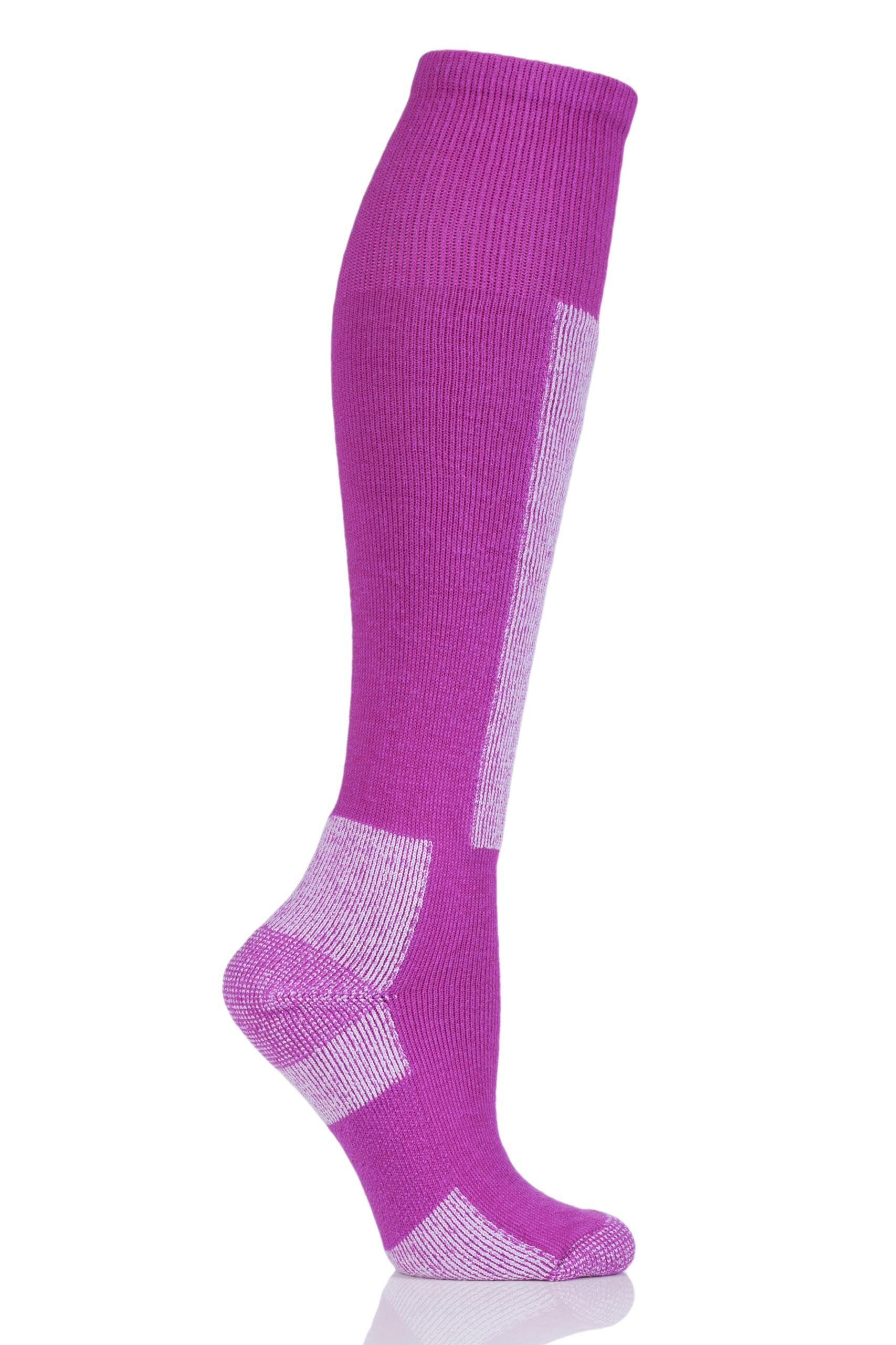 Image of 1 Pack Pink Lightweight Ski Socks Unisex 2.5-4.5 Unisex - Thorlos