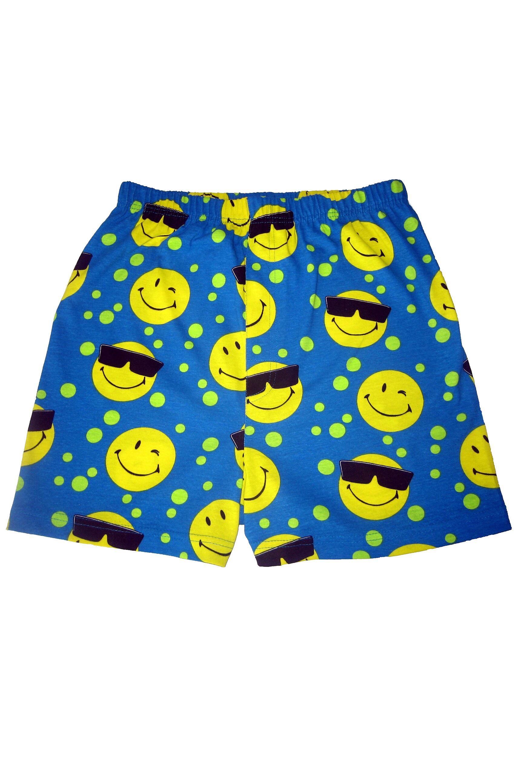 Image of 1 Pack Blue Magic Boxer Shorts In Smiley Pattern Men's Large - SOCKSHOP