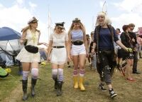 Socks and wellies see out Bestival
