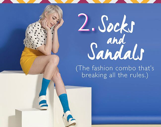 2. Socks and Sandals