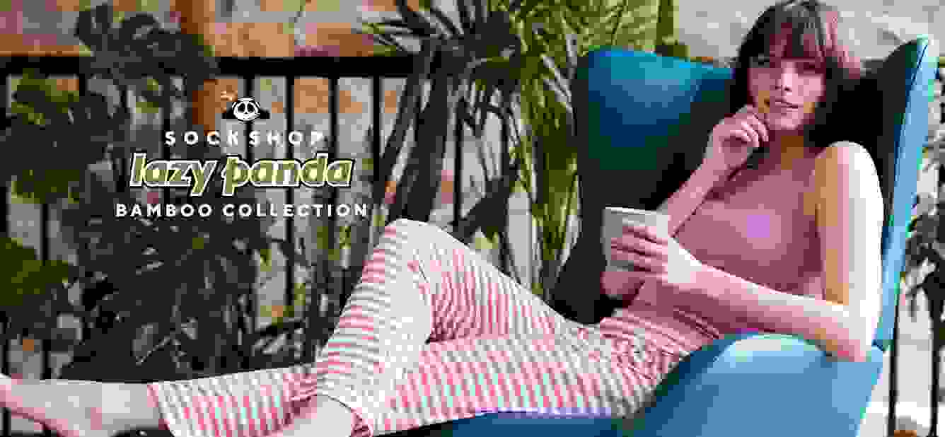 New Ladies' SOCKSHOP Lazy Panda Bamboo Loungewear