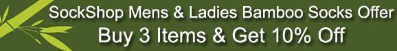 SockShop Mens & Ladies Plain Bamboo Socks Offer >