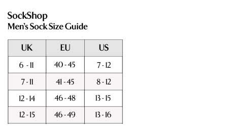 SockShop - Men's Sock Size Guide