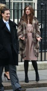 Sophie in tights for Number 10 bash