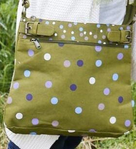 Ladies Bewitched Spots, Spots, Spots Polka Dot Design Messenger Bag In 3 Colours